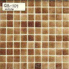 Крупная стеклянная мозаика cветло коричневый ас