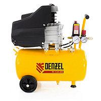 Компрессор пневматический, 1,5 кВт, 206 л/мин, 24 л Denzel, фото 1