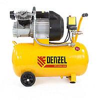 Компрессор пневматический, 2,2 кВт, 350 л/мин, 50 л Denzel, фото 1