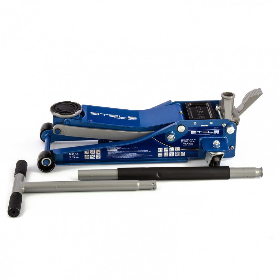 Домкрат гидравлический подкатной 3 т, быстрый подъем, Low profile quick lift, 75-505 мм, профессиональный