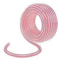 """Шланг поливочный эластичный 3/4"""", 25 м, прозрачный розовый Palisad"""