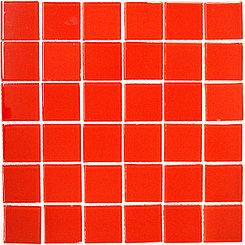 Крупная стеклянная мозаика red