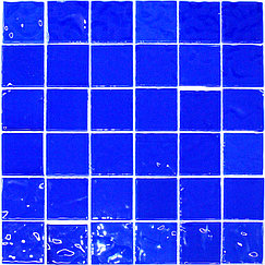 Крупная стеклянная мозаика light blue