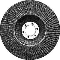 Круг лепестковый торцевой, конический, Р 80, 125 х 22,2 мм Сибртех