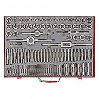 Набор метчиков и плашек М2-М18, 110 шт, металлический кейс Matrix