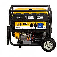 Генератор бензиновый PS 90 EA, 9.0 кВт, 230В, 25 л, коннектор автоматики, электростартер Denzel