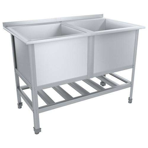 Ванна моечная СТАНДАРТ ЦК с бортом ВМО2-530СЦК-Мб (1215х700х870(890)