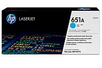 Голубой картридж с тонером HP 651A, голубого цвета 16 000 страниц для Color LaserJet, CE341A