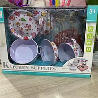 Игрушечный набор металлической посуды 988-11