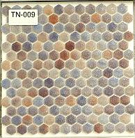 Шестигранная мозаичная плитка белый-голубой-синий снег