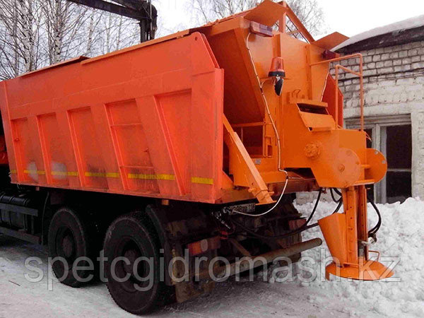 Пескоразбрасыватель в кузов самосвала КамАЗ (9 м. куб.) цепь якрная и отвал скоростной (2 комплекта)