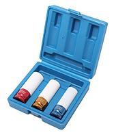 ROCKFORCE Набор головок ударных для литых дисков в защитном кожухе 3 предмета(17, 19, 21мм), в кейсе ROCKFORCE