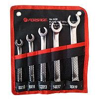 Forsage Набор ключей разрезных 5 предметов(8х10,9х11,12х13,14х17,18х19мм),на полотне Forsage F-5058 47329