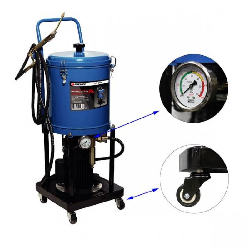 Forsage Нагнетатель густой смазки электрический( 25л,220V,1,1кВт,0,35 л/мин,250-400 Bar,длина шланга