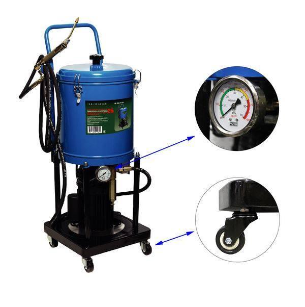 ROCKFORCE Нагнетатель густой смазки электрический( 25л,220V,1,1кВт,0,35 л/мин,250-400 Bar,длина шланга