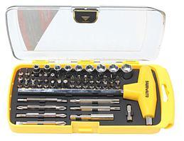 BaumAuto Отвертка реверсивная, в наборе с Т-образным держателем, комплектом бит и головок (46 предметов)в
