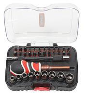 BaumAuto Отвертка с комплектом бит,гибким удлинителем и головками 35 предметовв пластиковом футляре BaumAuto