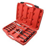 Forsage Набор съемников внутренних подшипников цанговый с обратным молотком,16 предметов (8-58мм), в кейсе