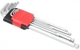 Forsage Набор ключей Г-образных 6-гранных 9 предметов (1.5, 2, 2.5, 3-6, 8, 10мм)в пластиковом держателе