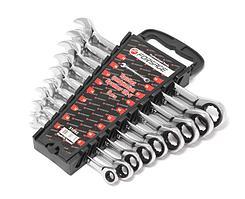 Forsage Набор ключей комбинированных трещоточных 9 предметов  (8,10,12,13,14,16,17,18,19мм)в пластиковом