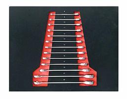 Forcekraft Набор ключей комбинированных трещоточных, 13 предметов (8-19, 21, 22мм) в ложементе FORCEKRAFT