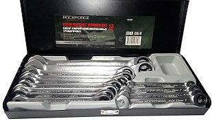 ROCKFORCE Набор ключей комбинированных трещоточных, 13 предметов (8-22мм) в мет. кейсе ROCKFORCE RF-51310