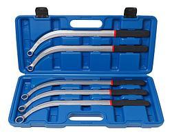 ROCKFORCE Набор ключей накидных удлиненных изогнутых(L-470мм; 13,15, 16, 17, 19мм) 5 предметов, в кейсе