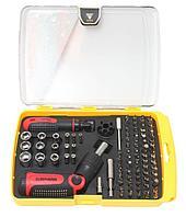 BaumAuto Набор отверток реверсивных поворотных для ювелирных и точных работ, с комплектом бит и головок (90