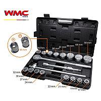 """WMC tools Набор инструментов  21 предмет 3/4""""(12гр)(17,19,21,22,24,27,30,32,34,36,36-6гр.,38,41,46,48,50мм)"""