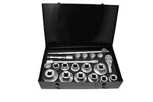 "Forsage Набор инструментов 1"" 12гр. 21 предмет(30,31,32,34,36,38,41,46,48,50,55,60,65,70,75,80мм),в метал."