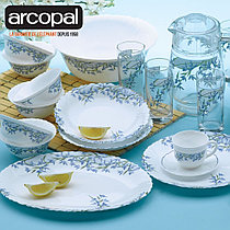 Столовый сервиз Arcopal Aliya Blue 46 предметов на 6 персон