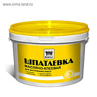 Шпатлевка масляно-клеевая, для внутренних работ «Бригада» 5кг