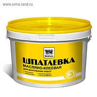 Шпатлевка масляно-клеевая, для внутренних работ «Бригада» 15кг