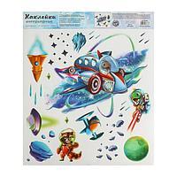 Наклейка виниловая «Космическое приключение», интерьерная, со светящимся слоем, 30 х 35 см 522736