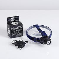 """Фонарь налобный, аккумуляторный """"Мастер К."""" 1 LED, 3 Вт, 180 лм, 3 режима, 5.5х6х5.5 см"""