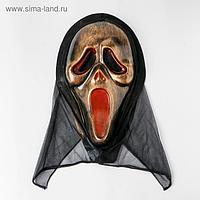 Карнавальная маска «Крик», цвет золотой