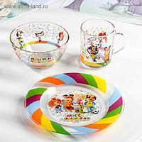 Набор посуды детский Priority «Барбоскины», 3 предмета