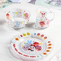 Набор посуды детский «Малышарики», 3 предмета