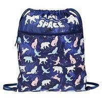 Мешок для обуви, с карманом, 490 х 410 мм, 'Оникс', МО-27-4р, с ручкой и сеткой для вентиляции, 'Созвездия'
