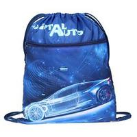 Мешок для обуви, с карманом, 490 х 410 мм, 'Оникс', МО-27-4р, с ручкой и сеткой для вентиляции, 'Digital auto'