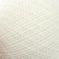 Нитки вязальные 'Снежинка' набор 6 шт, 230м/25гр 100 хлопок цвет белый