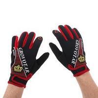 Перчатки для езды на мототехнике, межсезонные, одноразмерные, черно-красный