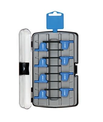 Набор шестигранных ключей с рукояткой, в пластиковом футляре - 221HXPB3 UNIOR