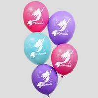 Воздушные шары 'С Днем Рождения!', Русалочка, Принцессы 12 дюйм (набор 50 шт)