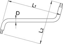 Ключ для мясляных пробок - 175/2 UNIOR, фото 2