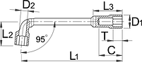 Ключ трубчатый - 215/2 UNIOR, фото 2