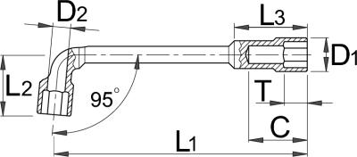 Ключ трубчатый - 215/2 UNIOR - фото 2