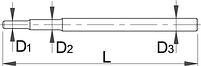 Вороток для арт. 215 - 215.1/2 UNIOR, фото 2