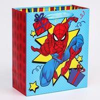 Пакет ламинат вертикальный 'С Днем Рождения!', Человек-паук, 23х27х11,5 см