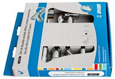 Набор ключей торцевых двойных изогнутых в картонной упаковке - 177CS6 UNIOR